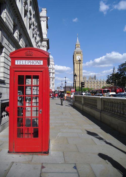 Telefonkiosk i London